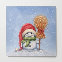 A little snowman Metal Print
