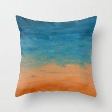 Pre-Dawn Moonrise, painting Throw Pillow