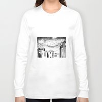 buildings Long Sleeve T-shirts featuring Buildings by Giuseppe Vassallo