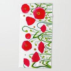 Flower#1 - Red Poppies Beach Towel