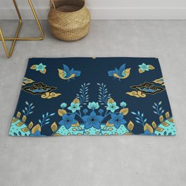 Birds and flowers Rug