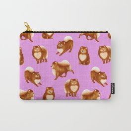 Pomeranian Pattern (Lilac Background) Carry-All Pouch