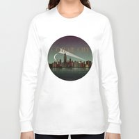gotham Long Sleeve T-shirts featuring Gotham City by WyattDesign