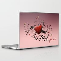 pretty little liars Laptop & iPad Skins featuring Pretty Little Liars fan heart by MaNia Creations