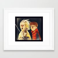 back to the future Framed Art Prints featuring Back to the future by Peerro
