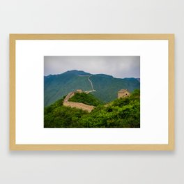 Great Wall Of China. Framed Art Print