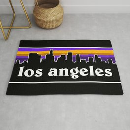Los Angeles Cityscape Rug