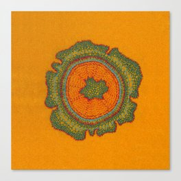 Growing -Taxus - plant cell embroidery Canvas Print