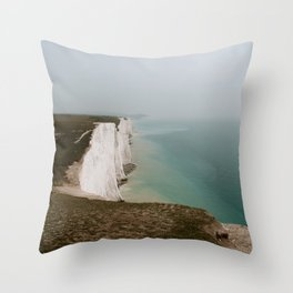 The Seven Sisters in South Downs, Seaford, East Sussex, England | Fine Art Nature Landscape Travel Photography | UK, Europe Throw Pillow