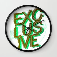 #exclusive Wall Clock