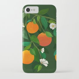 Oranges and Blossoms / Botanical Illustration iPhone Case