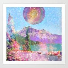 mandala sunrise Art Print