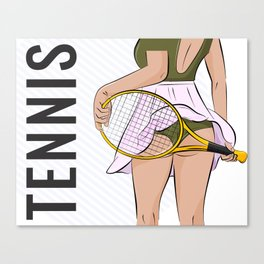 Sexy tennis Canvas Print