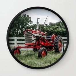 International Harvester Farmall 240 Red Tractor McCormick Deering Wall Clock