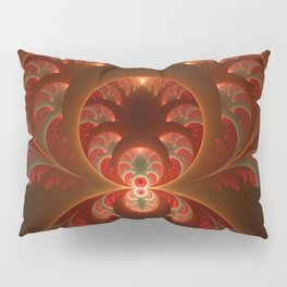 Fractal Mysterious, Warm Colors Are Shining Pillow Sham