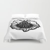 third eye Duvet Covers featuring Third Eye by Cecile Psicheer