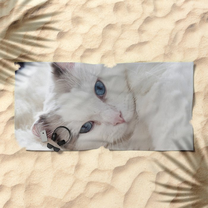 Bedroom eyes Beach Towel