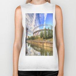 West Ham Olympic Stadium And The Arcelormittal Orbit  Biker Tank