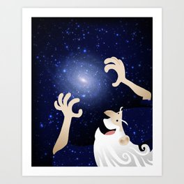 Space Wizard Art Print