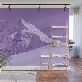 Winter Mountains in Plum - Alaska Wall Mural