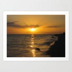 Hide and Seek Sunset Art Print