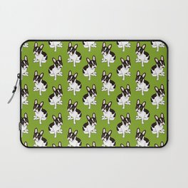 Cute double hooded pied French Bulldog wants your attention Laptop Sleeve