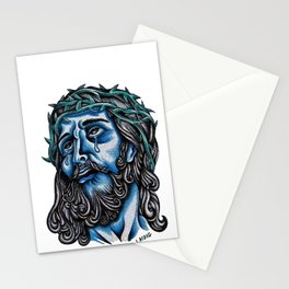 The Blue Jesus  Stationery Cards