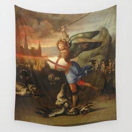 """Raffaello Sanzio da Urbino """"Saint Michael and the Dragon"""", 1503 - 1505 Wall Tapestry"""