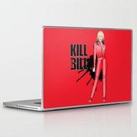 kill bill Laptop & iPad Skins featuring Kill Vampire Bill (Red Version) by AriesNamarie