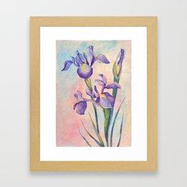 Angel Iris - Joyful Framed Art Print