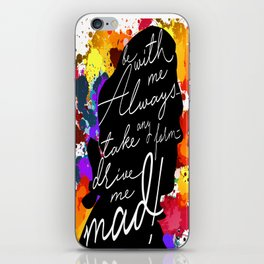Wuthering Heights Quote iPhone Skin