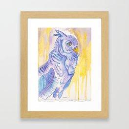 Looking ahead, Owl Framed Art Print