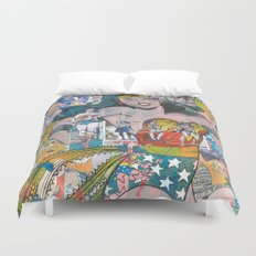 Vintage Comic WonderWoman Duvet Cover