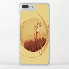 Terra di siena bruciata Clear iPhone Case