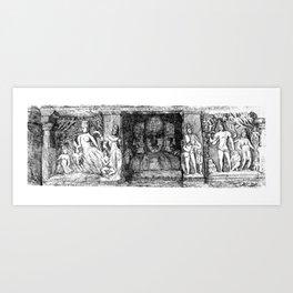 ELEPHANTA CAVES figures Art Print