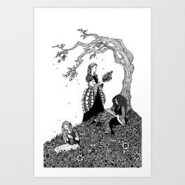 Sister Fair / Fair, Brown, and Trembling Art Print