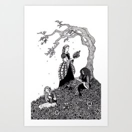 Sister Fair / Fair, Brown, and Trembling Art Print
