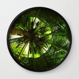 Green geometry Wall Clock