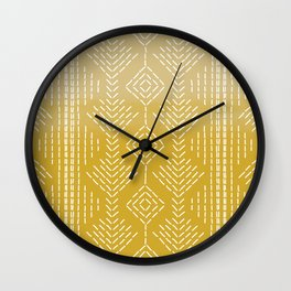 Yellow Ombre needlepoint Wall Clock