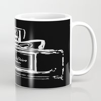 perfume Mugs featuring Black Perfume by LuxuryLivingNYC