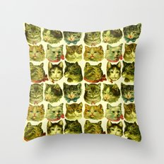 Many Cats Throw Pillow