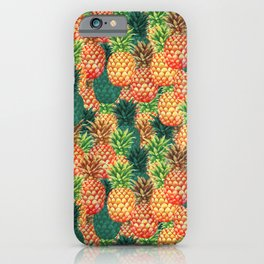 The funky Pineapples iPhone Case