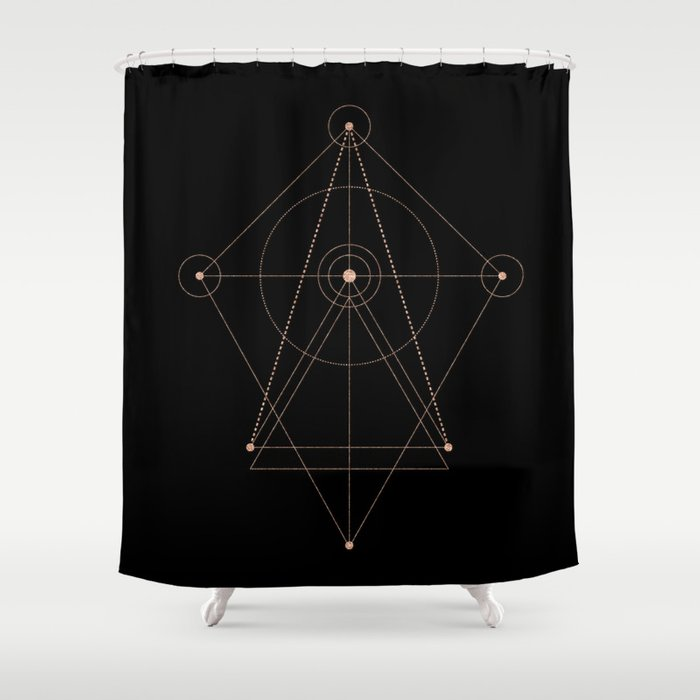 sacred geometry ii Shower Curtain by pattern-love