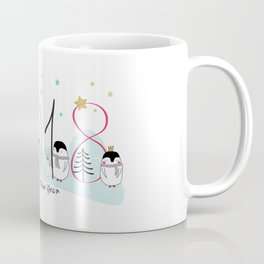 Happy New Year 2018 with penguins Coffee Mug
