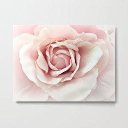Pastel Pink Rose Metal Print