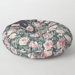 Vintage Garden (Night Roses) Floor Pillow