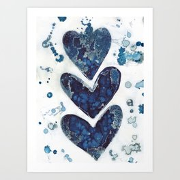 Three hearts are better than two. Art Print