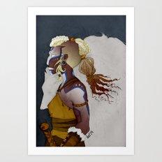 Wolf Warrior Art Print