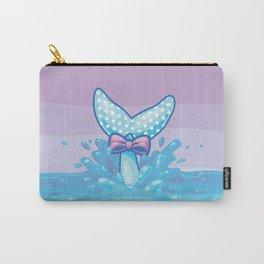 Polka Dot Whale Fluke Carry-All Pouch