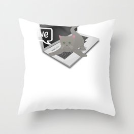 Funny Mine Red Stapler Office Gift Throw Pillow